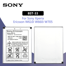 SONY Original BST-33 Phone Battery 1000mAh For Sony Ericsson W610i W660i W705 W880i Z530i K630 K790 K790i W888C W900i W960i K800 sony ericsson hazel