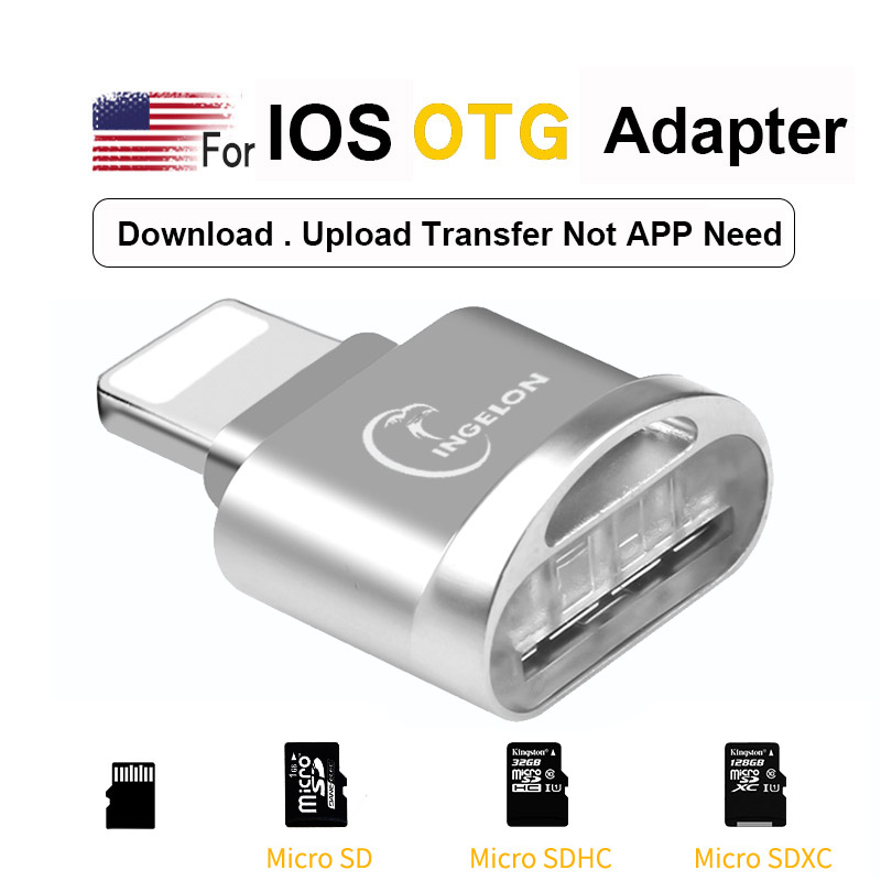 TF Card Reader For Lightning To Micro SD Adapter 3. 0 For IPhone 7 8 6s Plus 11 Max X XS XR Memory Card Adapter OTG For IOS 13