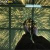25 sztuk/partia 3D lustro złoty parkiet taneczny led klub nocny dekoracja ślub impreza taniec piętro 50x50 na panel