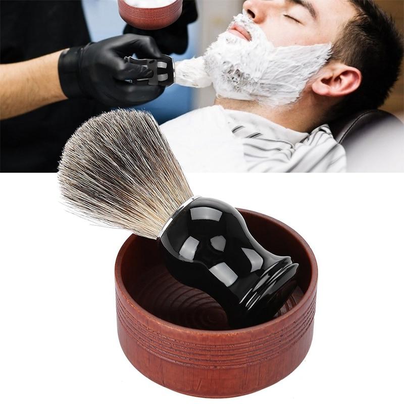 HAWARD Razor Eco Friendly Shaving Brush Bowl Men's Oak Shaving Soap Bowl Vintage Foam Bowl Shaving Accessories