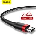 Baseus Micro USB Kabel Für Xiaomi Redmi Reversible 0,5 M 1M 2M 3M Micro USB ladegerät Datenkabel Für Samsung Handys