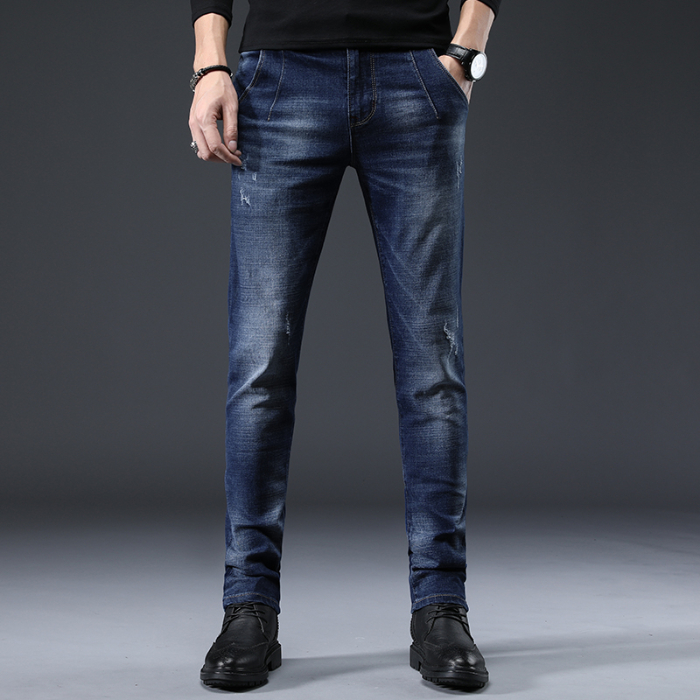 Men's Stretch Skinny Jeans Slim Men's Jeans Small Straight Denim Men's Trousers Autumn And Winter