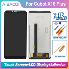 AiBaoQi Neue Original 5,99 inch Touch Screen + 2160x1080 LCD Display Montage Ersatz Für Cubot X18 Plus Android 8,0 telefon