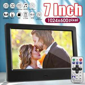Photo-Frames Album Picture Led-Backlight Digital 7inch-Screen Electronic Video HD Music