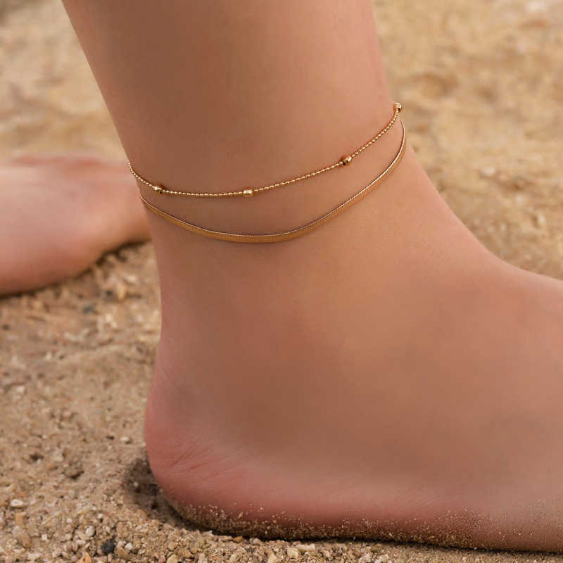Moduł Bohemia 2 sztuk/zestaw obrączki dla kobiet akcesoria do stóp 2019 plaża Barefoot sandały bransoletka kostki na nogę kobiece obrączki