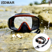 Professional Scuba Snorkeling Mask and Snorkels Anti-Fog Goggles Glasses Diving Swimming Easy Breath Tube Set Diving Mask 2018 hot anti fog swimming diving snorkeling full face mask surface scuba for gopro s m child type