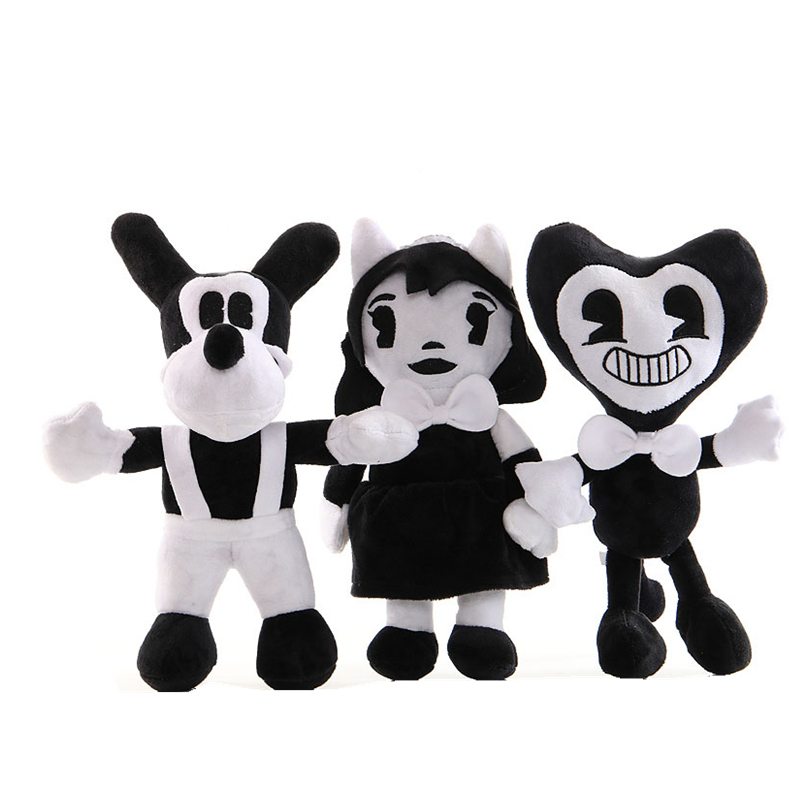 Bendy And The Ink Machine Plush Toy Game Doll Bendy Dog Plush Animal Doll Toy Kids Christmas Gifts Birthday Party Decoration