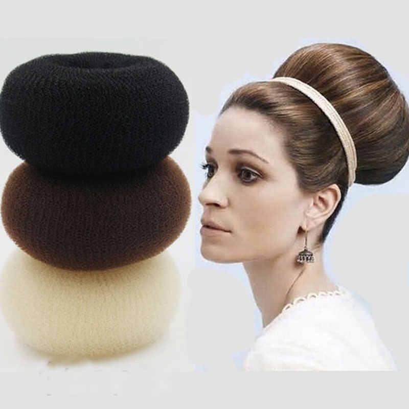 Rambut Bun Pembuat Donat Magic Busa Spons Mudah Cincin Besar Alat Styling Rambut Produk Gaya Rambut Rambut Aksesoris untuk Anak Perempuan Wanita wanita
