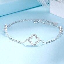 S925 Pure Silver Lucky Four Ye Cao Bracelet Woman Fund Concise Silver Hand Decorate Defence Allergy efiriym polychit novyu lineiky sverhmoshnyh asic mainerov ot linzhi