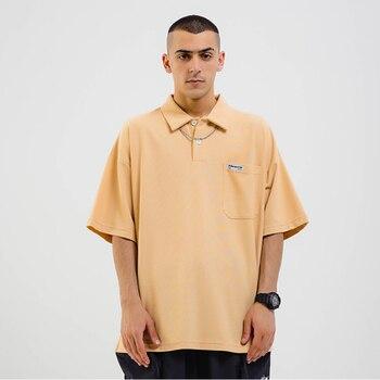 Camiseta Adererror suelta hip hop street hombres mujeres Oversize Adererror cuadrado collar camiseta Adererror caqui negro marrón camiseta