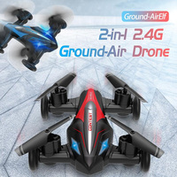 Mini Dron D85 2,4G RC 2 en 1, coche acrobático volador, Dron profesional de carreras con modo Dual, cuadricóptero con tapa 3D, juguetes para niños