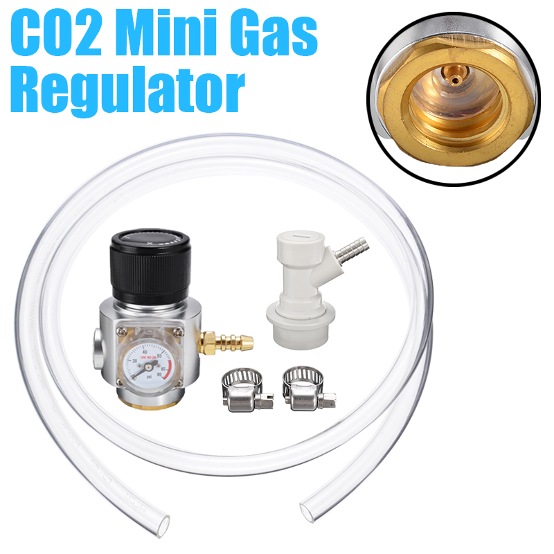 Hot Sale CO2 Mini Gas Regulator Sodastream CO2 Gas Regulator Gas Line Corny Cornelius Keg Charger Ball Lock