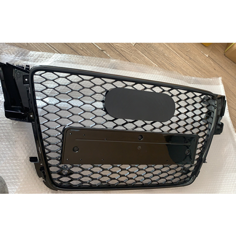 Для RS5 Style Front Sport Hex Mesh Honeycomb Hood решетка глянцевый черный для Audi A5/S5 B8 2008 2009 2010 2011