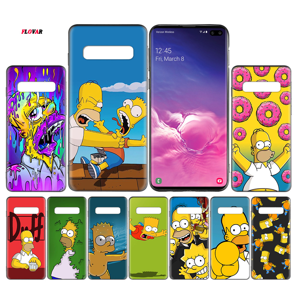 The Simpsons Black TPU Case Cover For Samsung Galaxy Note 8 9 10 10+ S8 S9 S10e Plus 5G A30 A50 A70 A30s A50s Coque