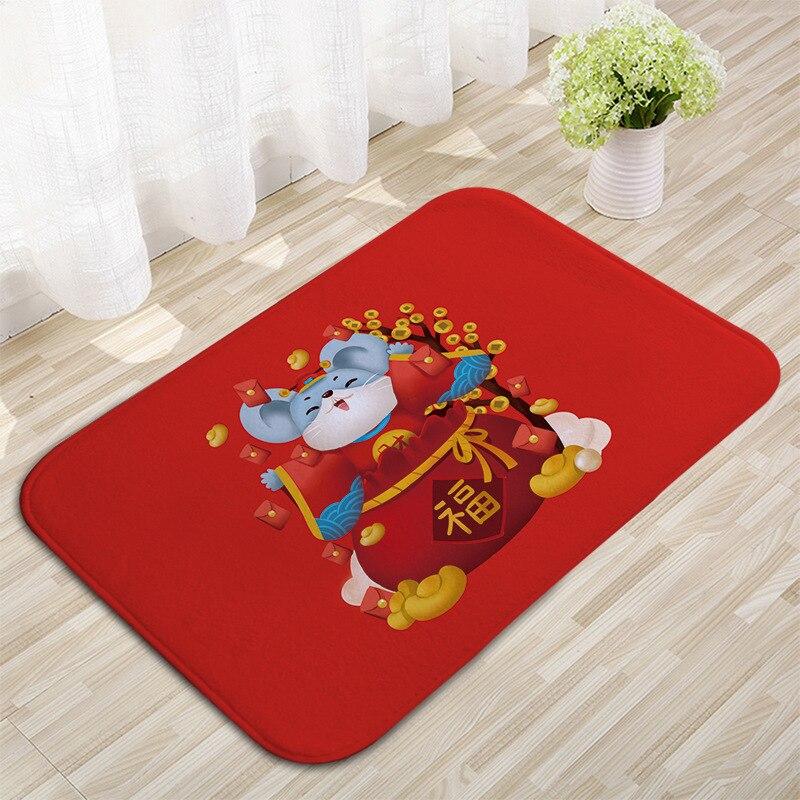 Rat Ni Zui Hong Flannel Mat Living Room Bedroom Mat Toilet Non-slip Floor Mat Plans To Sample Customizable Mat