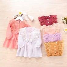 Детская одежда кружевные платья с цветами для девочек костюмы