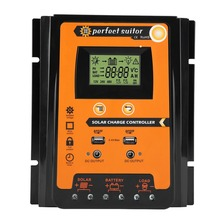 Контроллер заряда солнечной батареи 12 В/24 В 30A50A70A MPPT, регулятор батареи, двойной USB ЖК дисплей