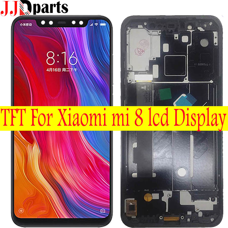 TFT For Xiaomi Mi 8 LCD Display Touch Screen Assembly xiaomi MI8 display With Frame Replacement