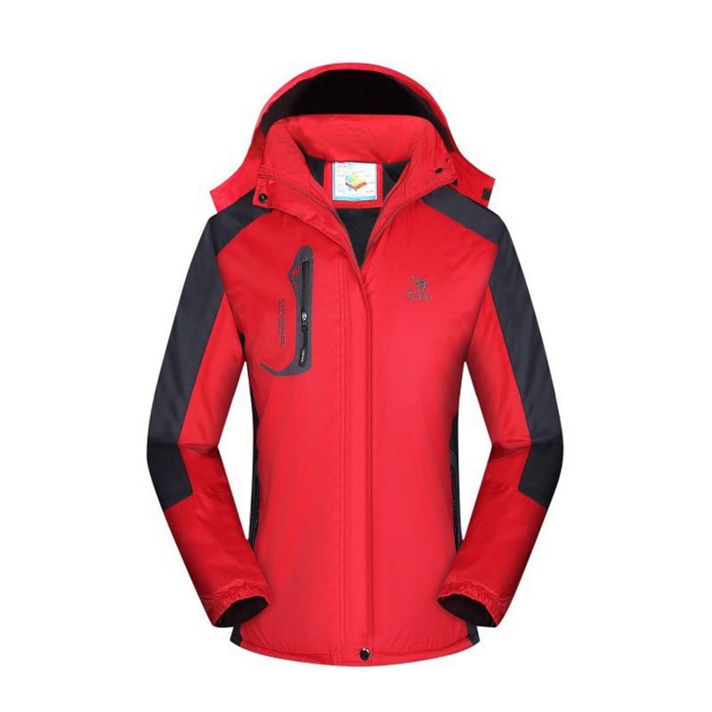2019 New Men And Women Winter Jacket Outdoor Plus Velvet Thick Waterproof Windproof Mountaineering Suit Couple Jacket