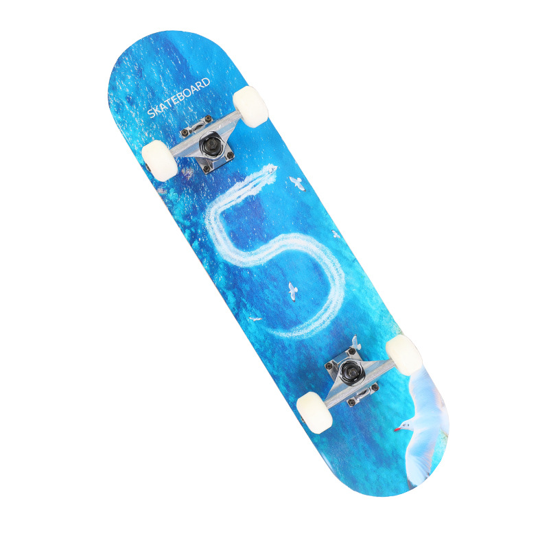 Men And Women Students Beginner Board Double Rocker Skateboard Four Wheel Skateboard Double Snubby Scooter A Generation Of Fat