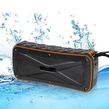 10W Heavy Bass Waterproof Outdoor Bluetooth Speaker 4500mAH Power Bank Portable 3D Stereo Wireless Riding Sport Speaker TF Mic