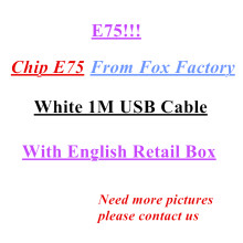 10Pcs/lot Original 8ic 1M/3FT 2m/6FT E75 Chip USB Data Cable Charger For 5 5S 6 6s 7 7plus 8 8plus X With Retail box