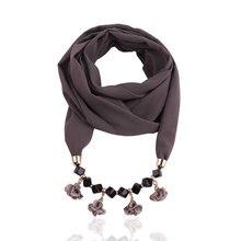4 color fabric rose pendants Pure pearl Chiffon Necklace Pendant scarf pendant