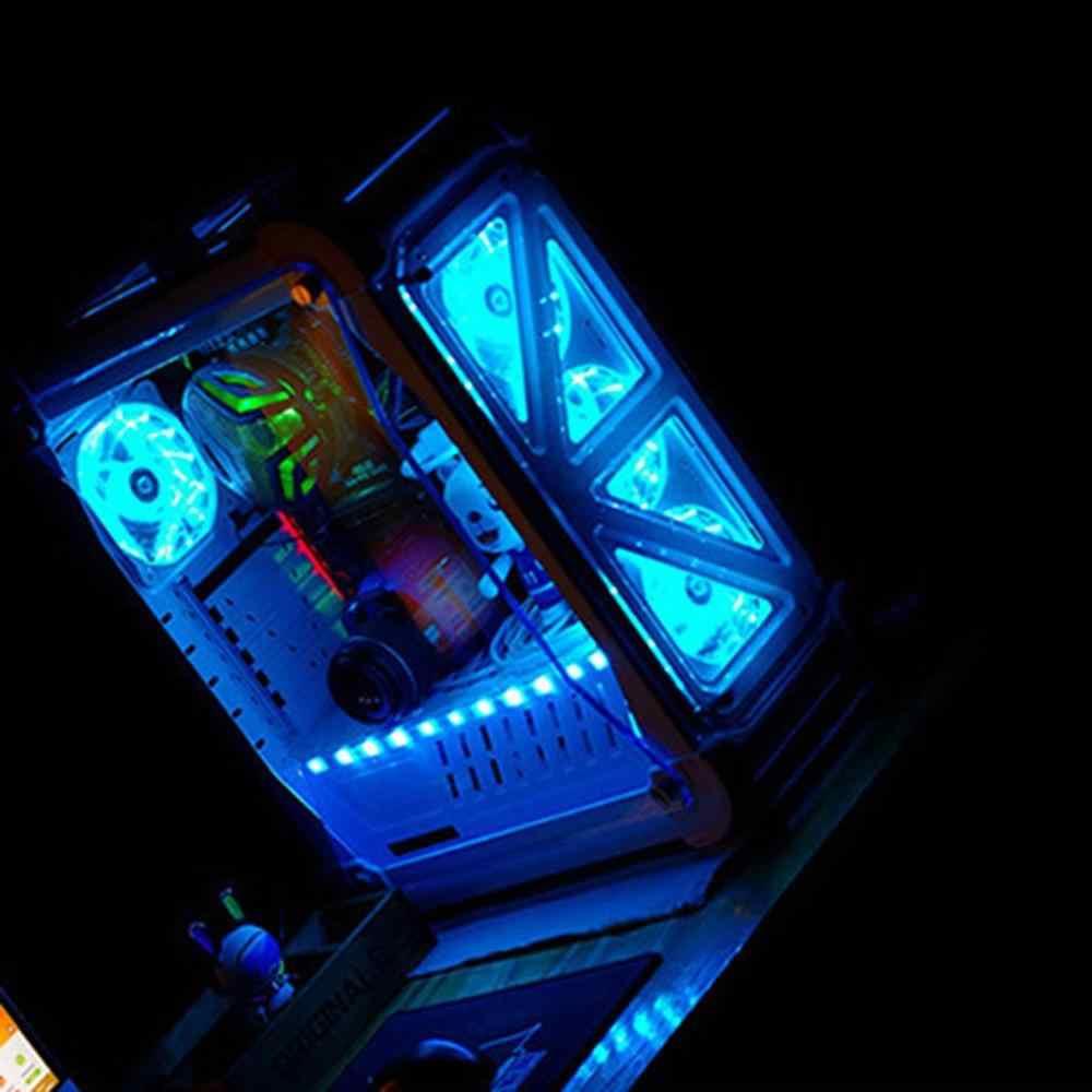 120mm 15 LED Ultra silencioso ordenador caso ventilador 15 LEDs 12V con goma silencioso conector de espagueti ventilador fácil de instalar
