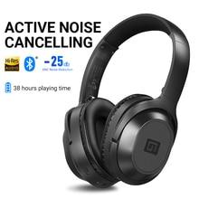 Langsdom BT25 aktif gürültü iptal kablosuz bluetooth kulaklık ANC Hifi 3D oyun kulaklığı kulaklık PUBG Overwatch