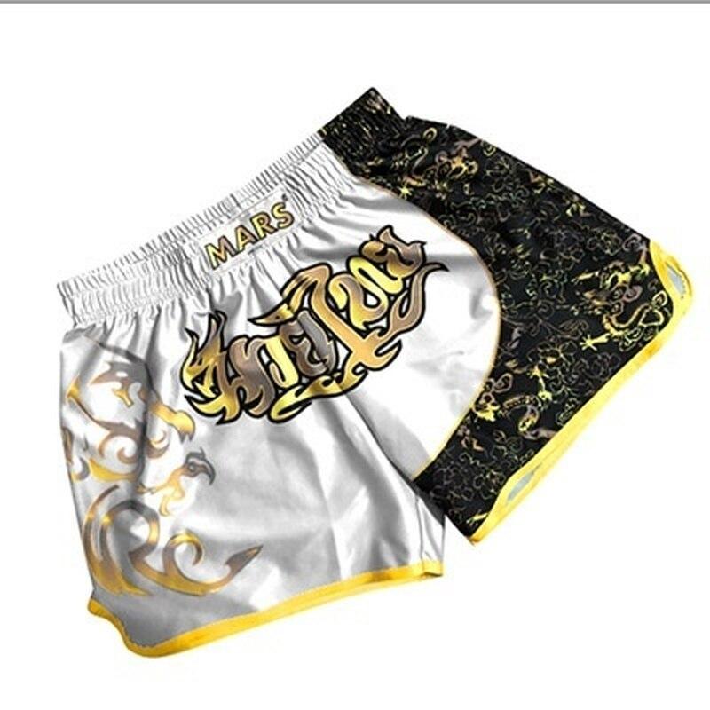 shorts / calção masculino boxe esportes shorts de combate competição 3