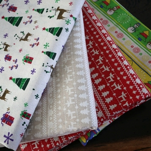 Christmas Decoration Fabric Polyester Faux Rough Linen Fabric For Zakka Storage Bag Sewing Crafts Material TJ0405