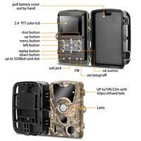 Câmera de caça sem fio trail câmeras hc801a 16mp 1080 p foto armadilha visão noturna wildlife vigilância rastreamento cams|Câmeras de caça| |  -