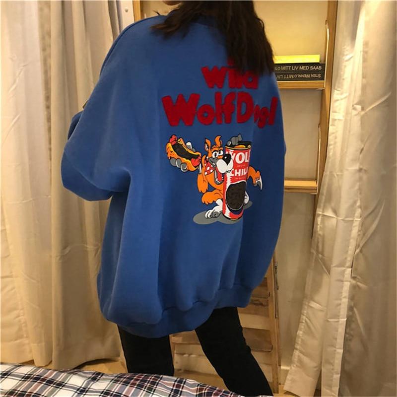 Harajuku Japanese Hoodie Women Funny Korean Tops Sweatshirt Women Men Clothes Long Sleeve Pullover Loose Jumper Girls Hoodie