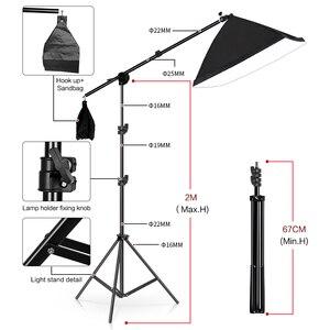 Image 4 - ถ่ายภาพพื้นหลังกรอบสนับสนุนSoftbox Lighting Kit Photoอุปกรณ์เสริมอุปกรณ์สตูดิโอ 3Pcsฉากหลังและขาตั้งกล้อง