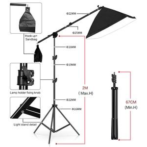 Image 4 - Support de cadre de fond de photographie Kit déclairage Softbox accessoires déquipement de Studio Photo avec toile de fond 3 pièces et trépied