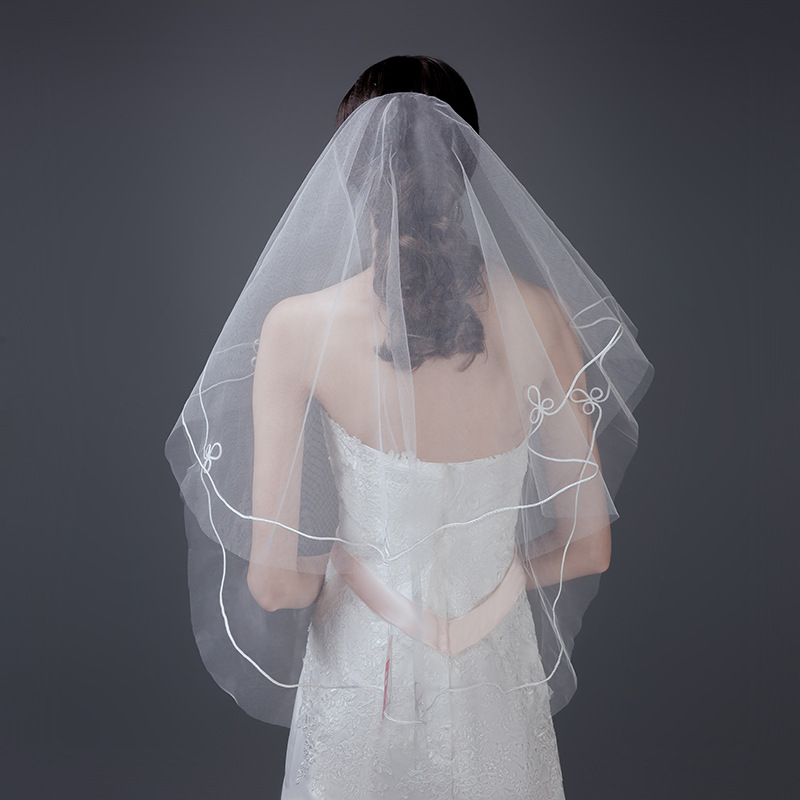 Blusher Veil Wedding Veils Short Bride Veils  Wedding Veil Weeding Accessoire WAS10086