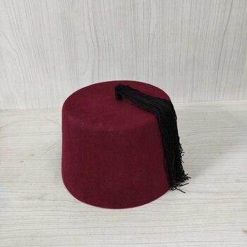 Fez Authentic Ottoman Turkish Fes Doctor Who Velvet Hat Tassel Medium Height 11cm Egyptian Morocco Fez Hat Costume Assessories 1