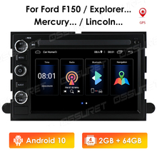 Dvd-Player Navi Radio Stereo TPMS Ford Android 10 64G Fusion/freestyle GPS Car 7''