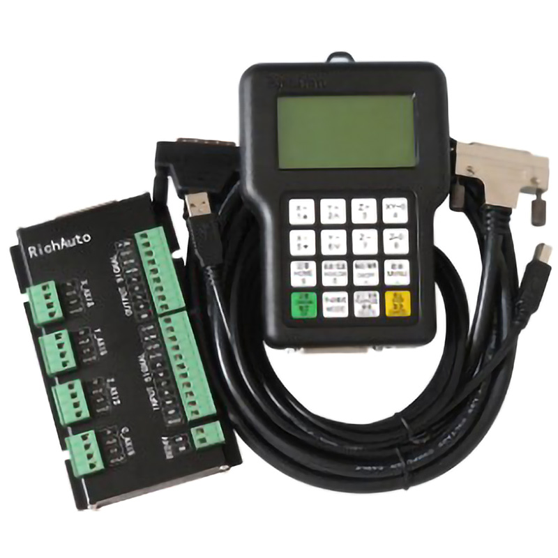 For RichAuto DSP A11 CNC Controller A11S A11E 3 Axis Motion Controller Remote For CNC Engraving And Cutting English Version