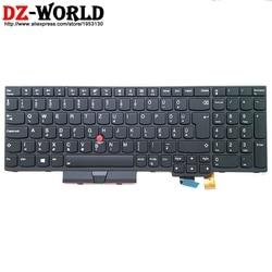 Nowy/oryg węgierski podświetlana klawiatura do lenovo Thinkpad T570 P51S T580 P52S Teclado 01ER597 01ER556 laptopa podświetlenie w Zamienne klawiatury od Komputer i biuro na