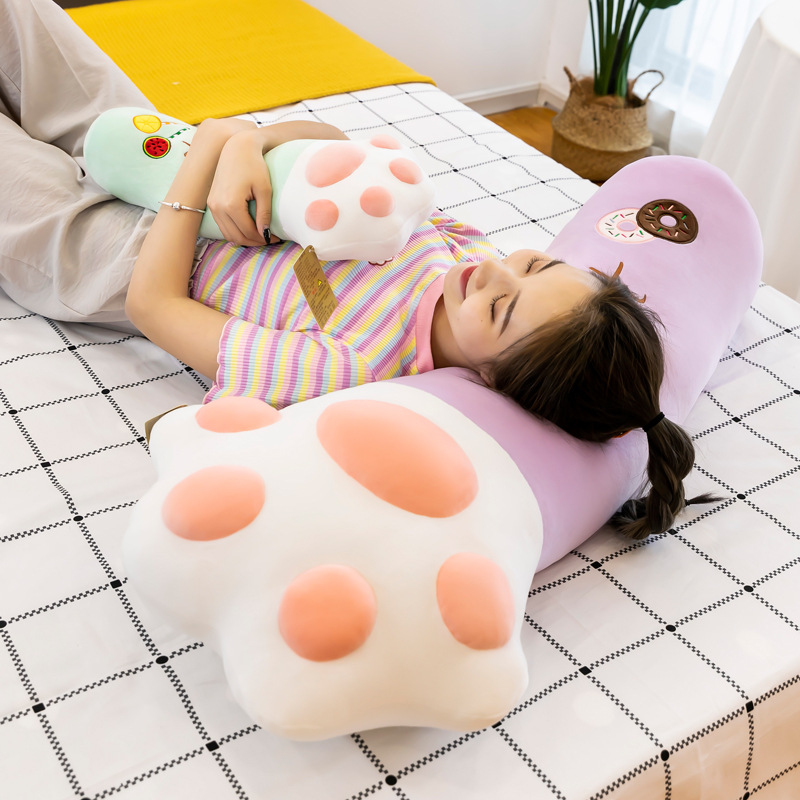 50-80cm Soft Animal Giant Cat Paw Plush Toy Soft Stuffed Animal Reading Pillow for Birthday Gifts Cushion Doll Gift For Children 2