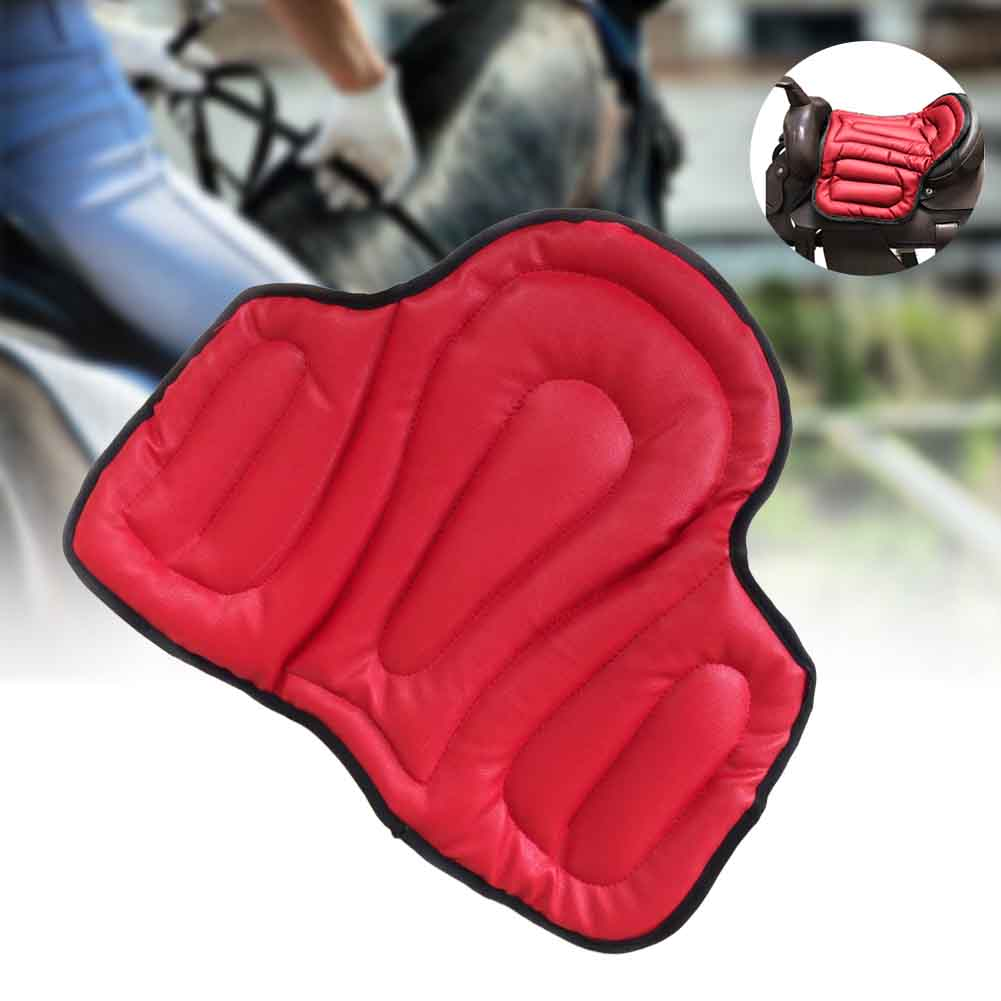 Equipment Accessories Training Wear-resistant Shock Absorption Jumping Outdoor Equestrian Horse Riding Saddle Pad Dressage PU