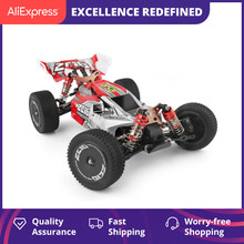 WLtoys 144001 2.4G 레이싱 RC 자동차 경쟁 60 km/h 금속 섀시 4wd 전기 RC 포뮬러 자동차 원격 제어 완구 어린이를위한