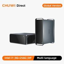 CHUWI – Mini PC Windows 10, Core box X, processeur Intel Core i7, décodage 4K, Mini PC 8 go de RAM, SSD 256 go, Port d'affichage