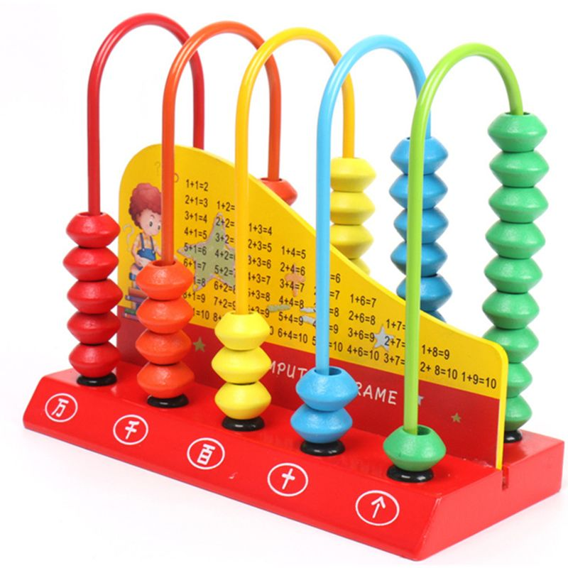 Wooden Abacus For Kids Math Learning Educational Toys Maths Counting Beads Toddlers Preschool Kindergarten Toy