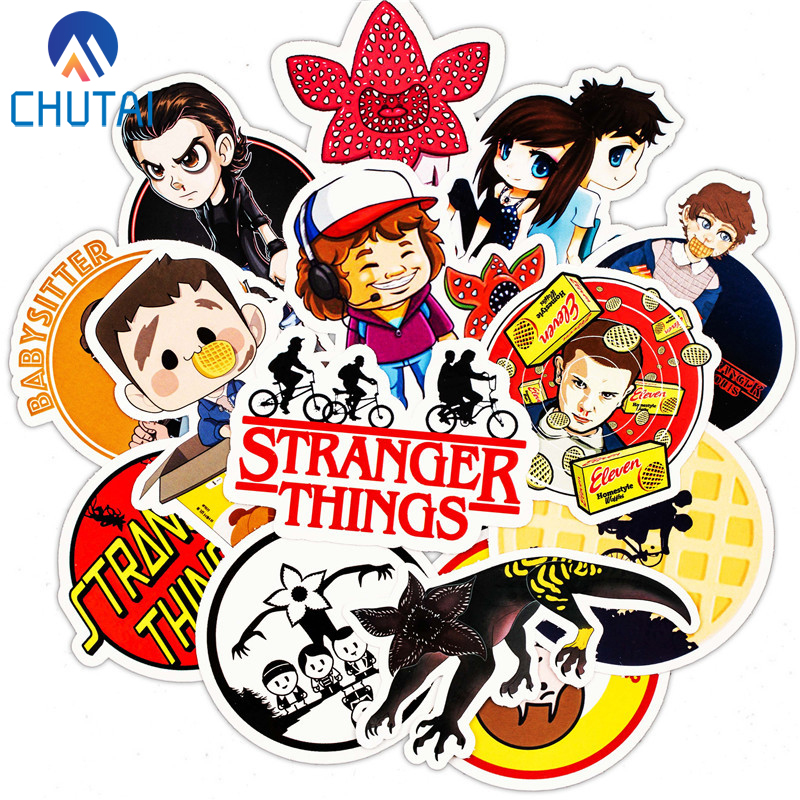 30 PCS/Lot Stranger Things Stickers Set Toy Travel Sticker For Luggage Skateboard Laptop Stationery Anime Stickers
