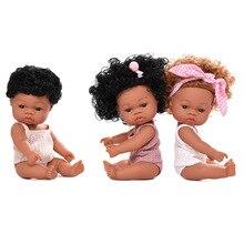 30Cm Echt Nette Schwarz Baby Bebe Mode Afrikanische Rebron Bjd Puppe Sammeln Twins Puppen Spielzeug Für Kinder Mädchen