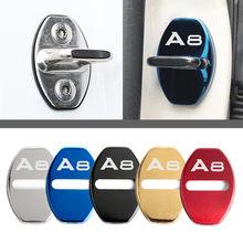 Fechadura da porta decoração capa de proteção emblema caso para audi a8 d2 d3 4e d4 acessórios estilo do carro