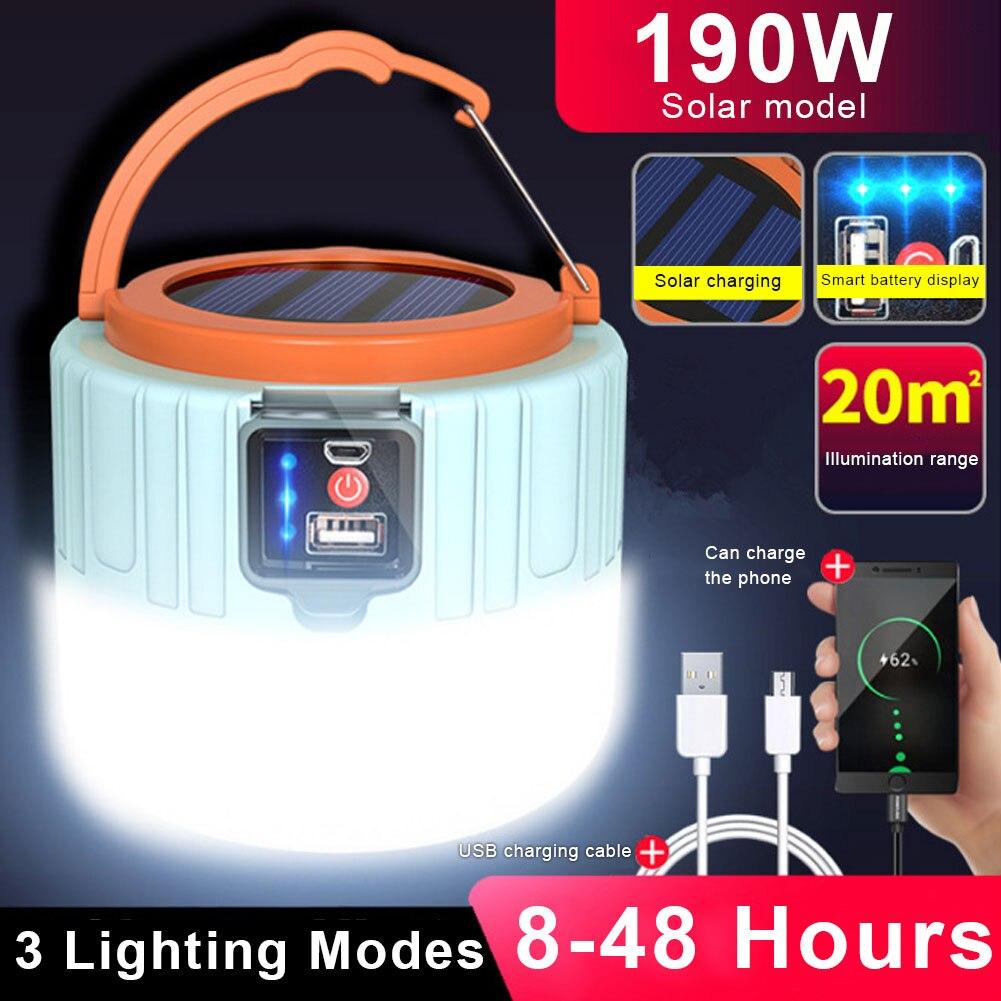 Наружный светодиодный солнечный аккумулятор пульт управление палатка свет супер яркий ночь рынок свет аварийный свет кемпинг свет