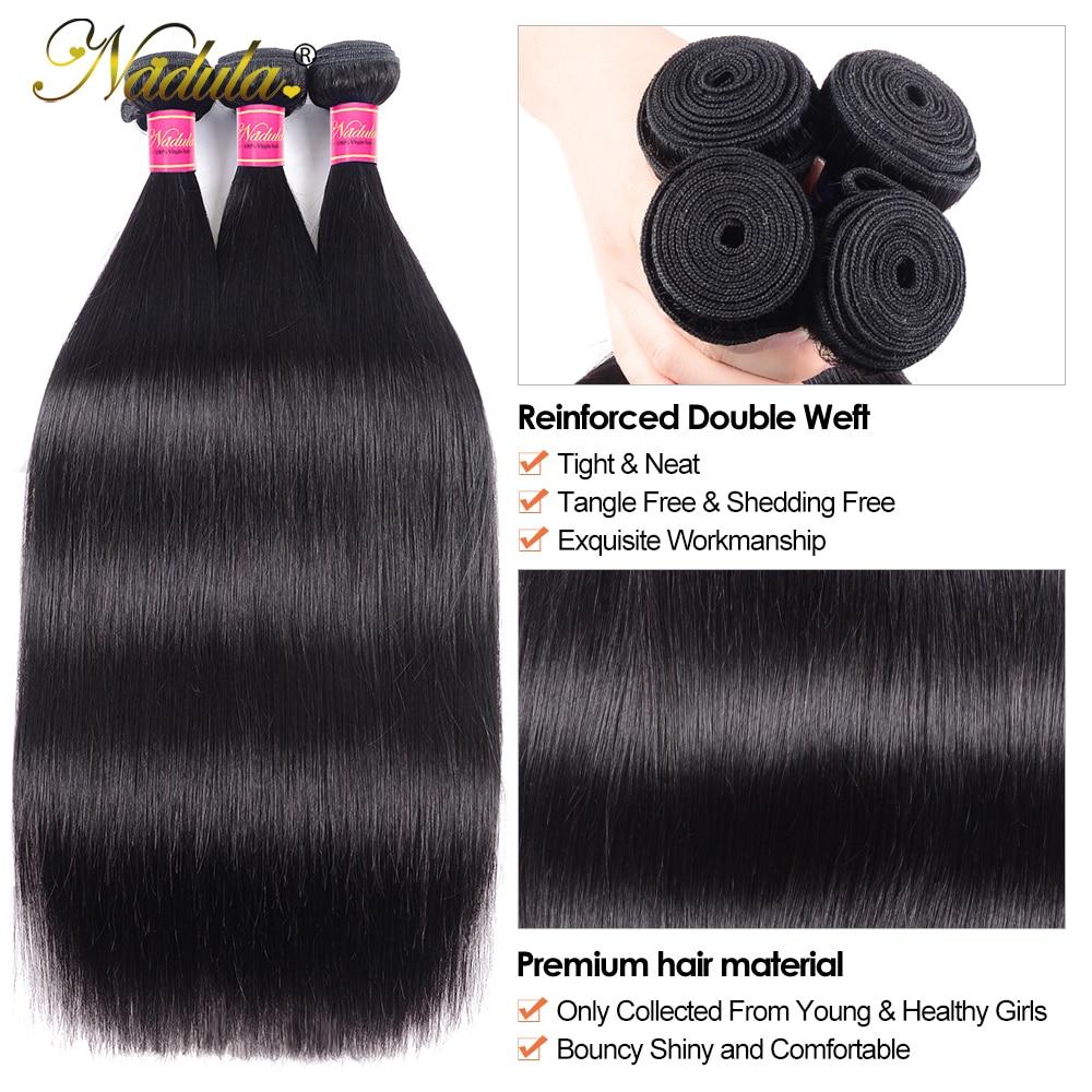 Nadula Straight Bundles  Ponytail 3 Bundles / 4 Bundles Straight Hair Deals  Hair Vendors Wholesale 3